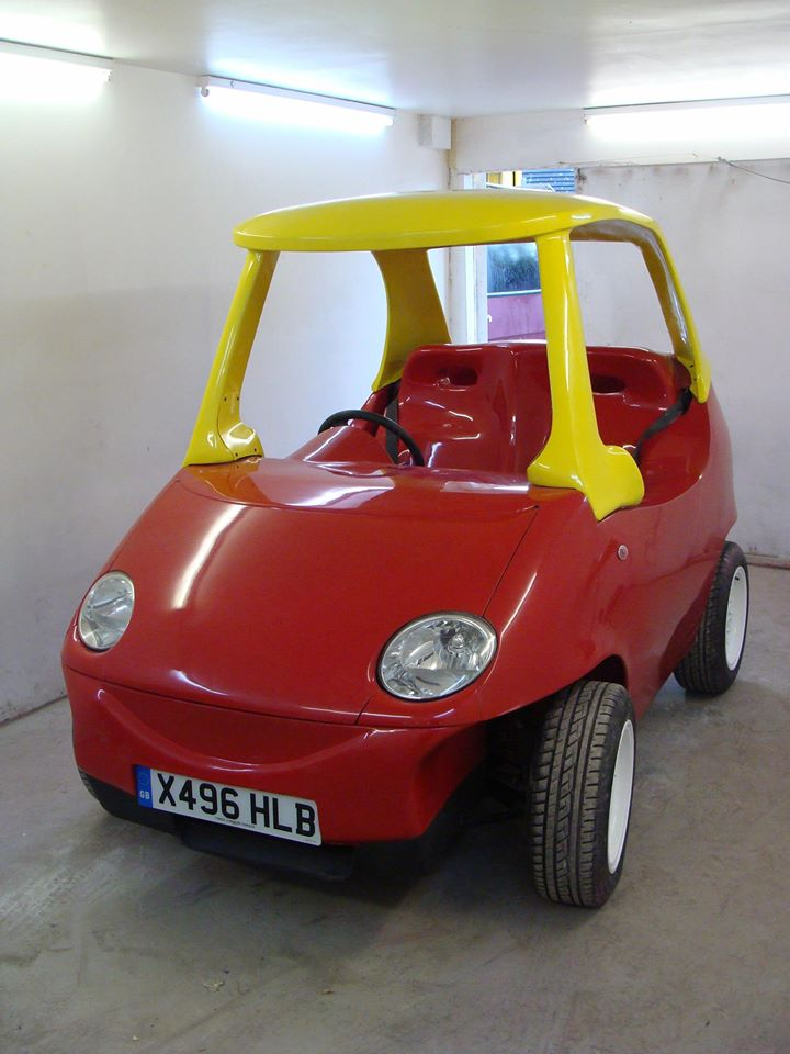 British Company Builds Adult Sized Little Tikes Cozy Coupe
