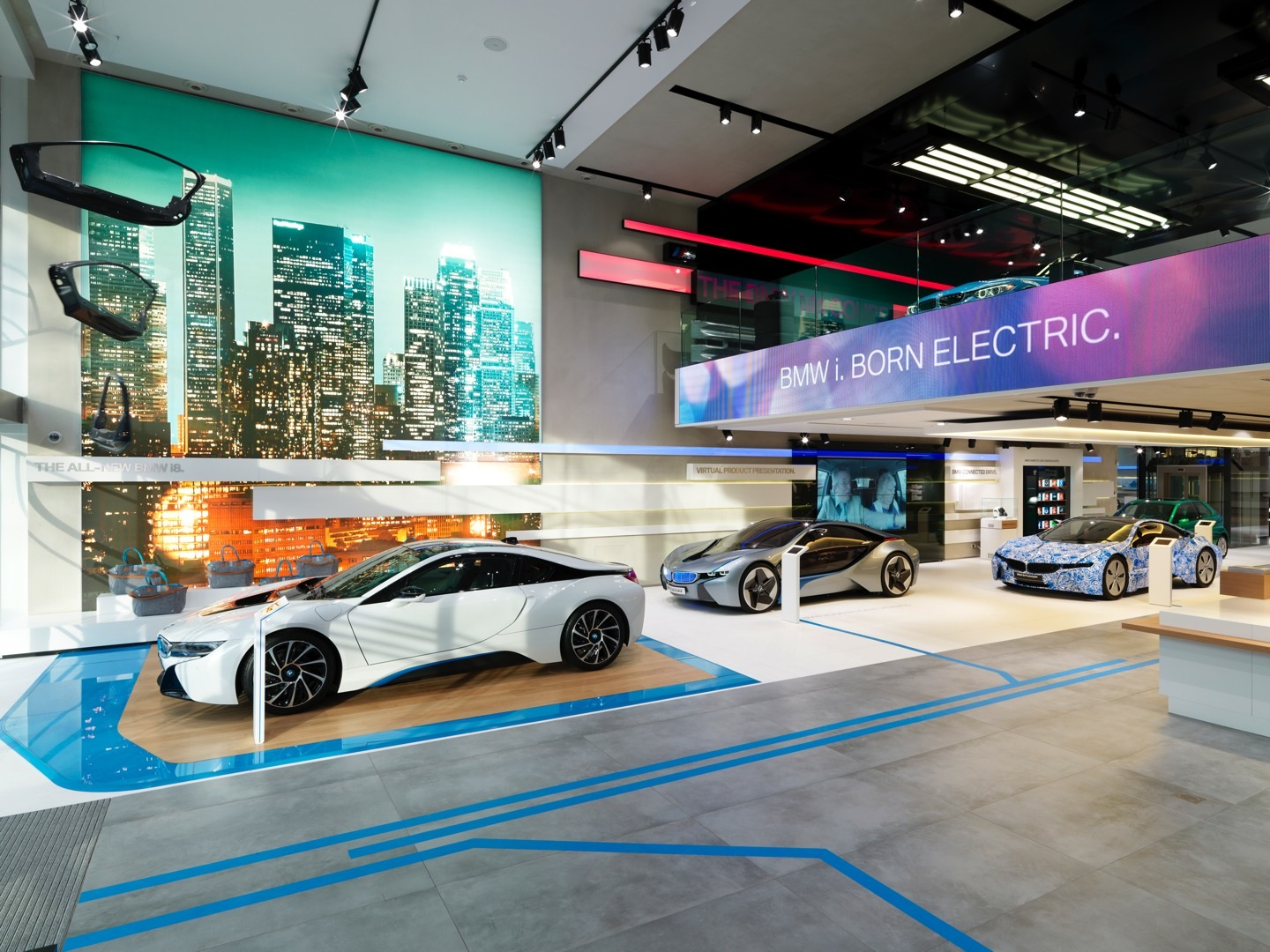 Brussels bmw brand store earns 2014 iconic award for for Auto interior design ideas