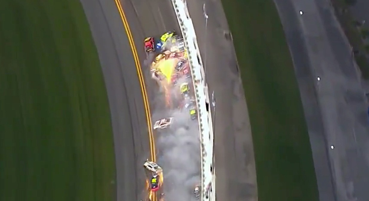 Bubba Wallace confronts Alex Bowman with postrace water splash