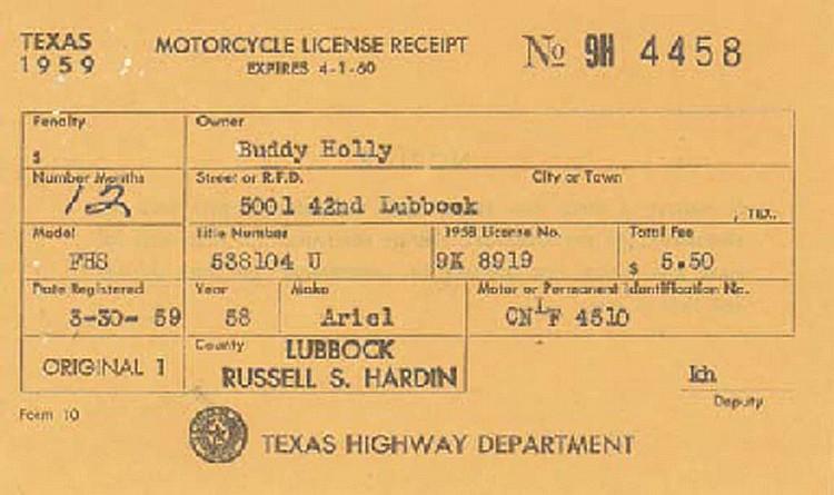 Buddy Holly S Ariel Cyclone Bike Under The Hammer