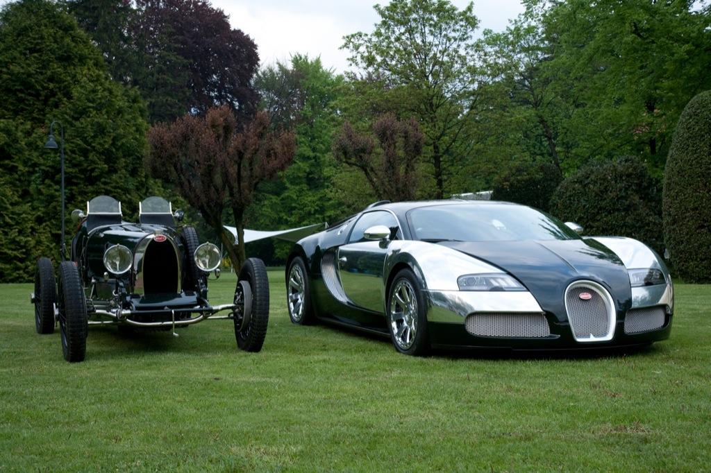 bugatti's 100th celebration at concorso d'eleganza - autoevolution
