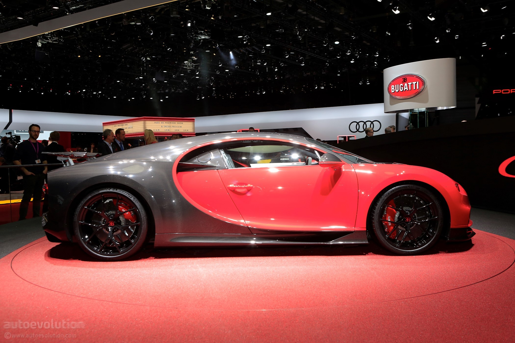 bugatti chiron gets arctic wrap in psychedelic rendering autoevolution. Black Bedroom Furniture Sets. Home Design Ideas