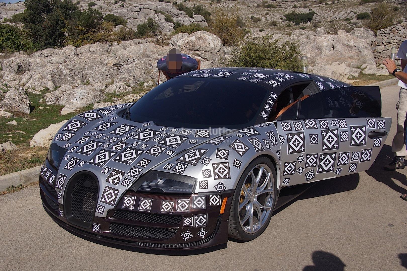bugatti veyron successor chiron spied testing hybrid power autoevolution - Bugatti 2016 Gold