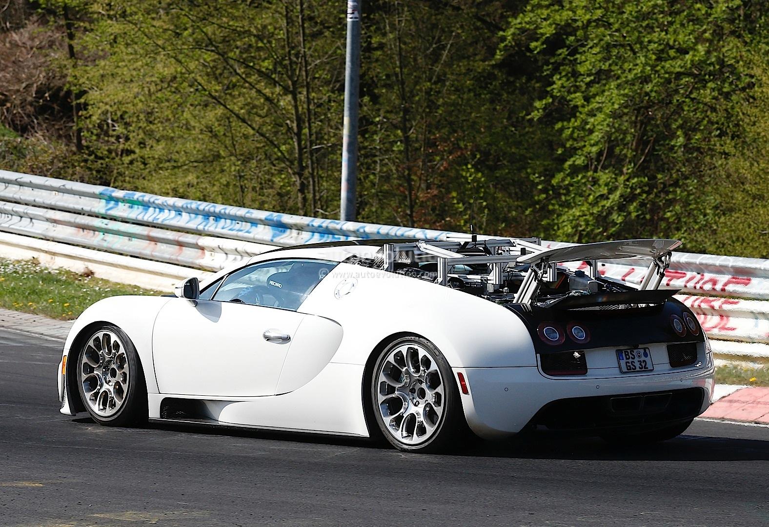 bugatti veyron test mules spied on nurburgring hint at hybrid sucessor autoevolution. Black Bedroom Furniture Sets. Home Design Ideas