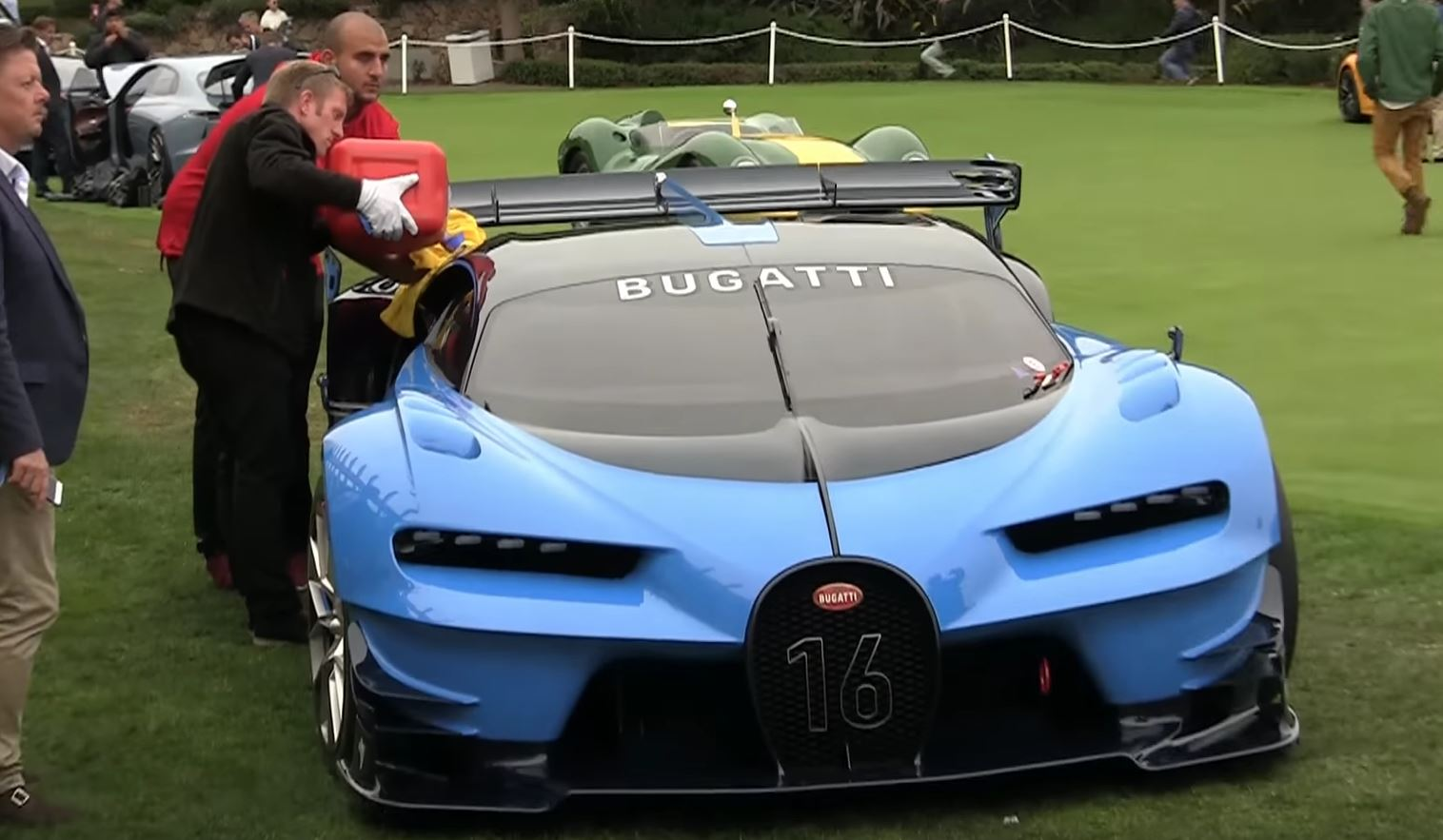 Bugatti vision gran turismo is a fully functional concept car w16 engine sounds beastly video