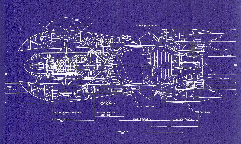 Build your own 1989 batmobile using these blueprints Print blueprints