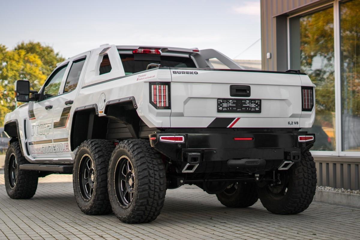 Bureko 6x6 Pickup Is A Chevy Silverado With Two More Wheels Packs 1 200 Hp Autoevolution