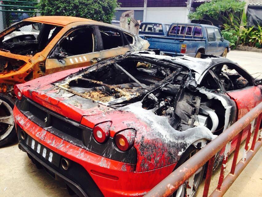 Burning Bmw X6 Sets Ferrari Lamborghini And Bentley On