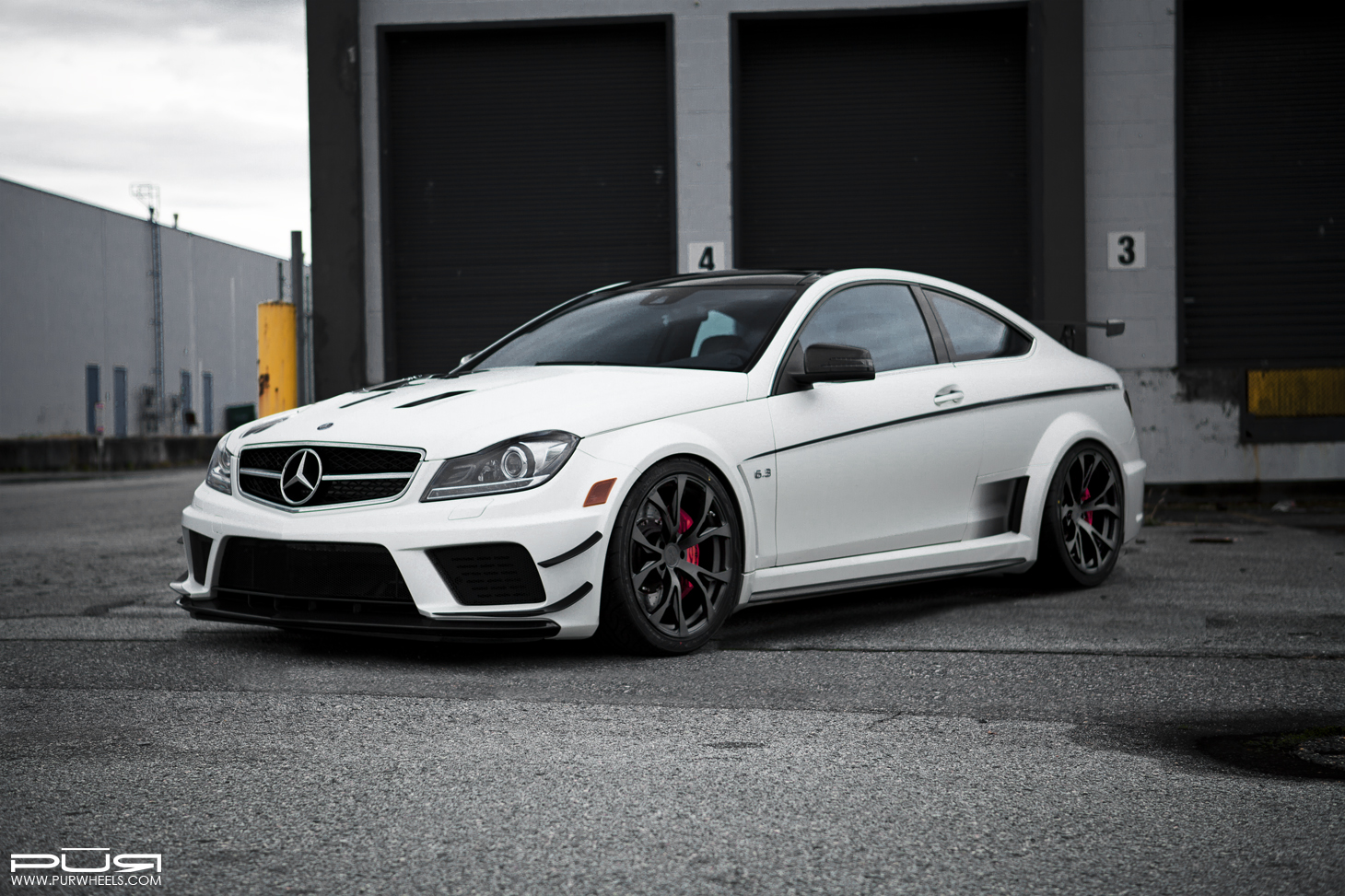 C 63 Amg Coupe Black Series On Pur Wheels Looks Ferocious