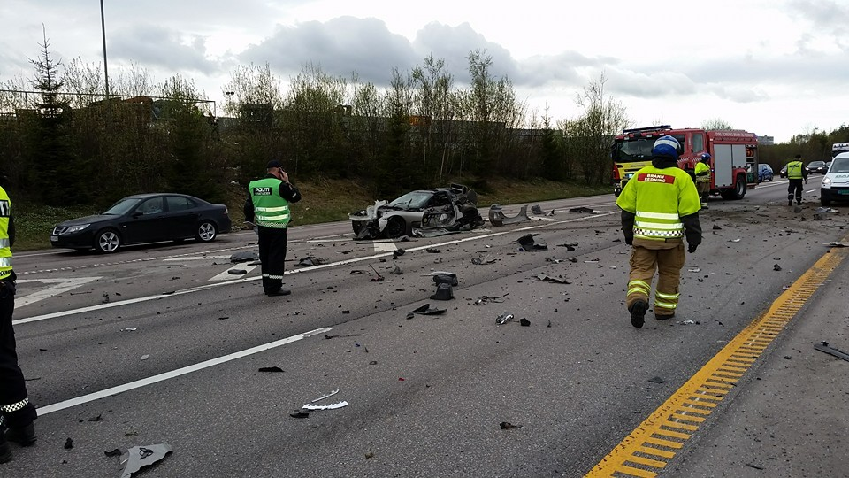 C5 Corvette And Ram Truck Damaged Beyond Repair In Norway Accident Autoevolution