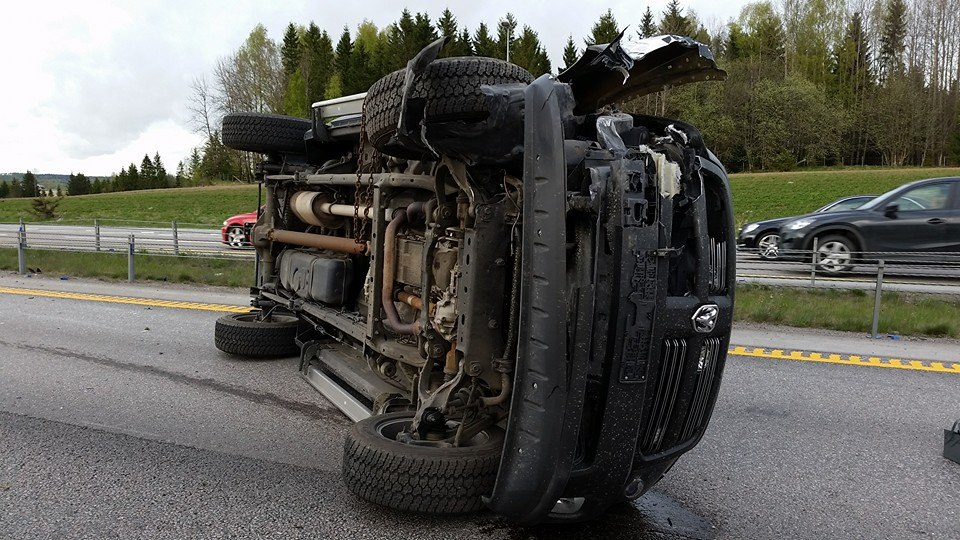 C5 Corvette And Ram Truck Damaged Beyond Repair In Norway