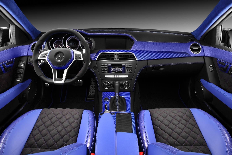 C63 AMG Gets Blue Crocodile and Carbon Fiber Interior ...