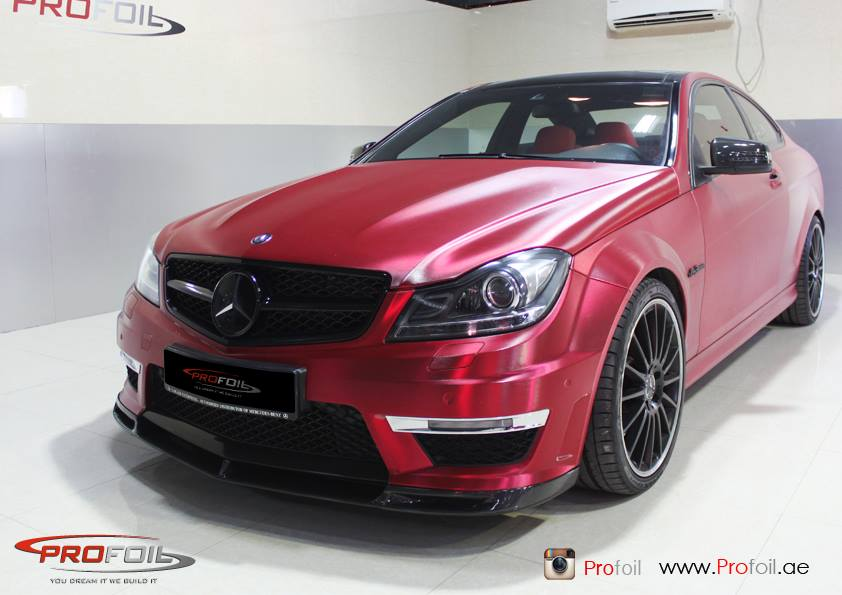 C63 Amg Red Chrome Brushed Wrap Autoevolution