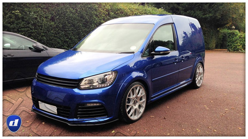 caddy van gets mk6 golf r and mk7 gti body kits looks rad. Black Bedroom Furniture Sets. Home Design Ideas