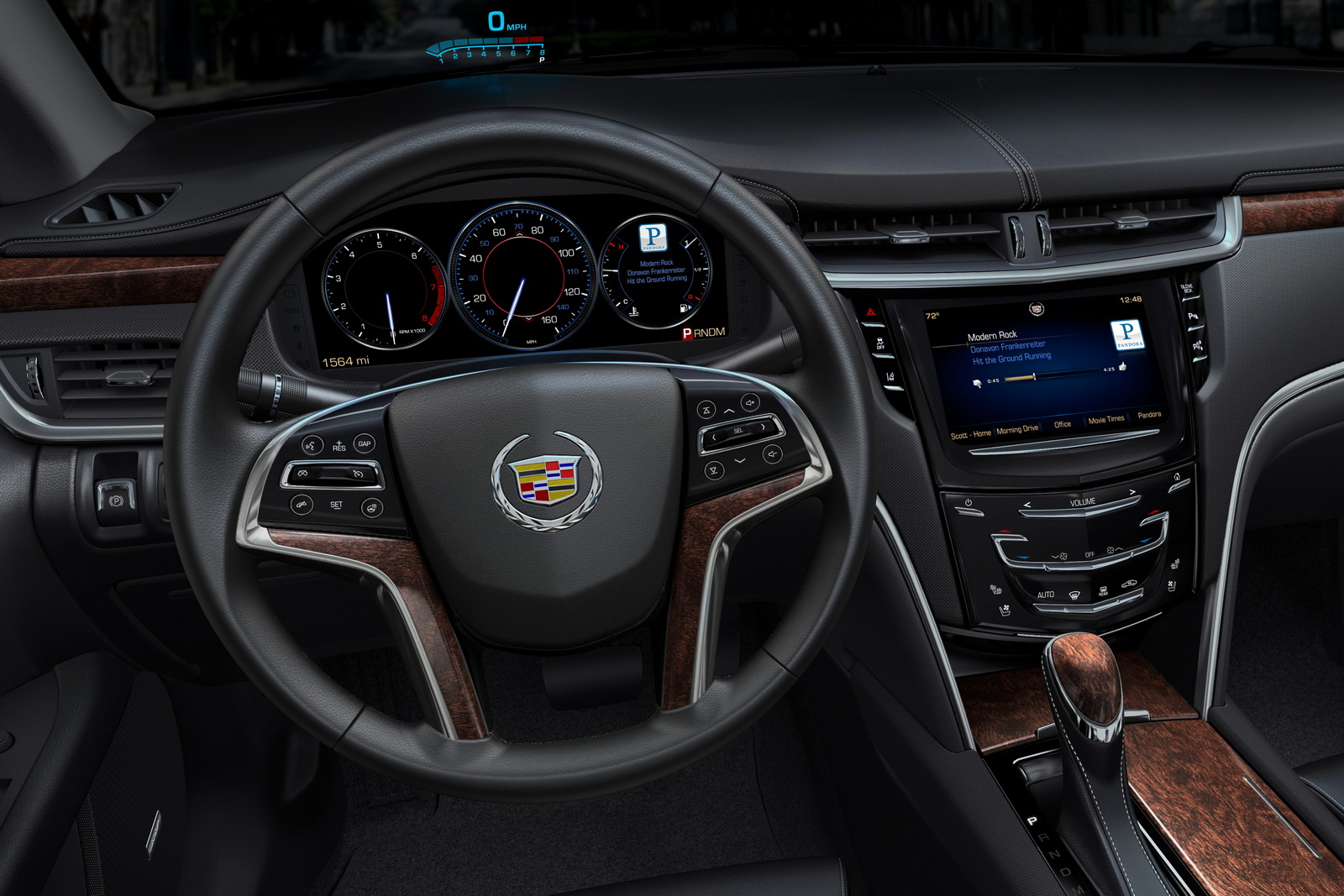 cadillac cue infotainment system in 2012 xts interior revealed video autoevolution. Black Bedroom Furniture Sets. Home Design Ideas