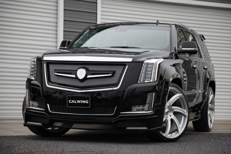 cadillac escalade gets calwing body kit from japan and forgiato wheels autoevolution. Black Bedroom Furniture Sets. Home Design Ideas
