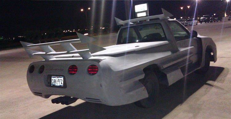 Camaro-Corvette Pickup Truck Is a Horrible Hack Job ...