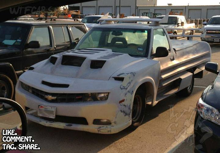 Camaro Corvette Pickup Truck Is A Horrible Hack Job