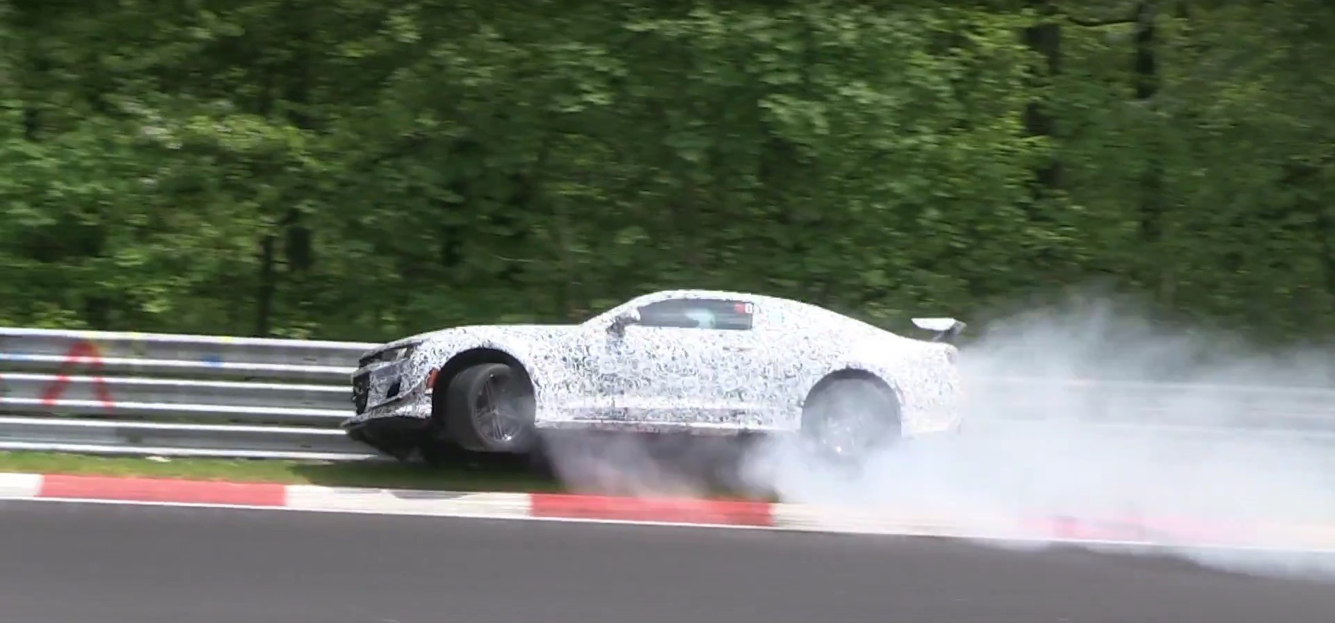 2018 Chevrolet Camaro Z 28 Crashes Hard At Adenauer Forst
