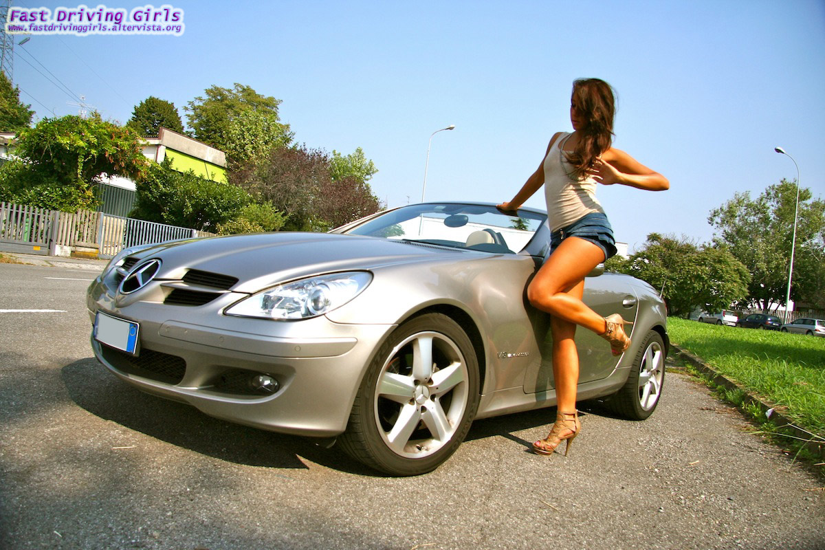 Can She Drive The Mercedes Slk In Heels Video