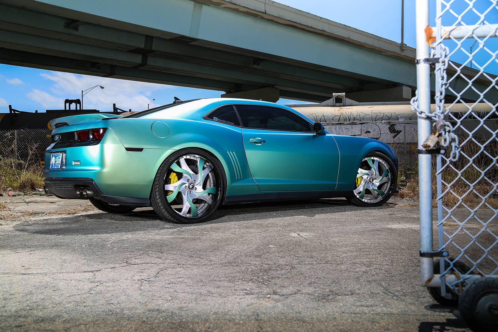 Candy Camaro On Forgiato Wheels Has A Difalco Grille Autoevolution