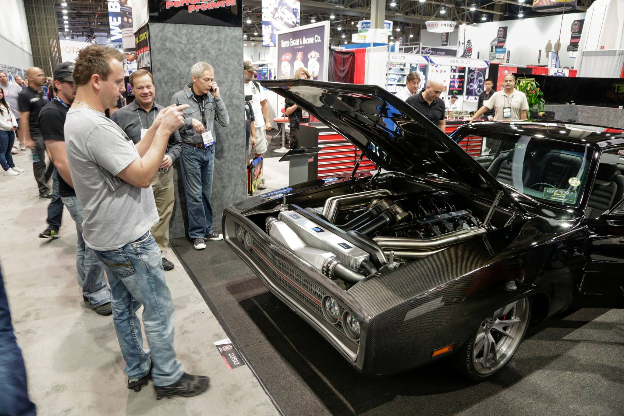 Carbon Fiber 1970 Dodge Charger with Immaculate Mercury Racing Engine Debuts at SEMA 2015 ...