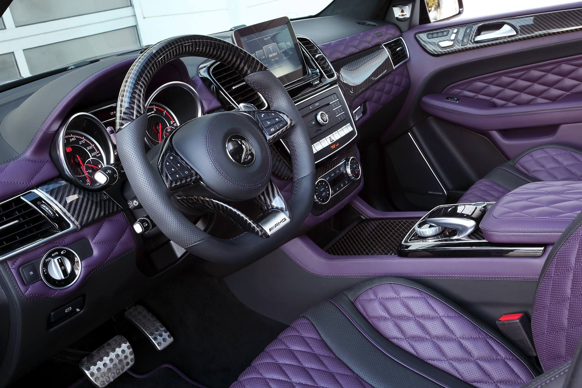carbon mercedes amg gle 63 by topcar has purple leather interior autoevolution. Black Bedroom Furniture Sets. Home Design Ideas