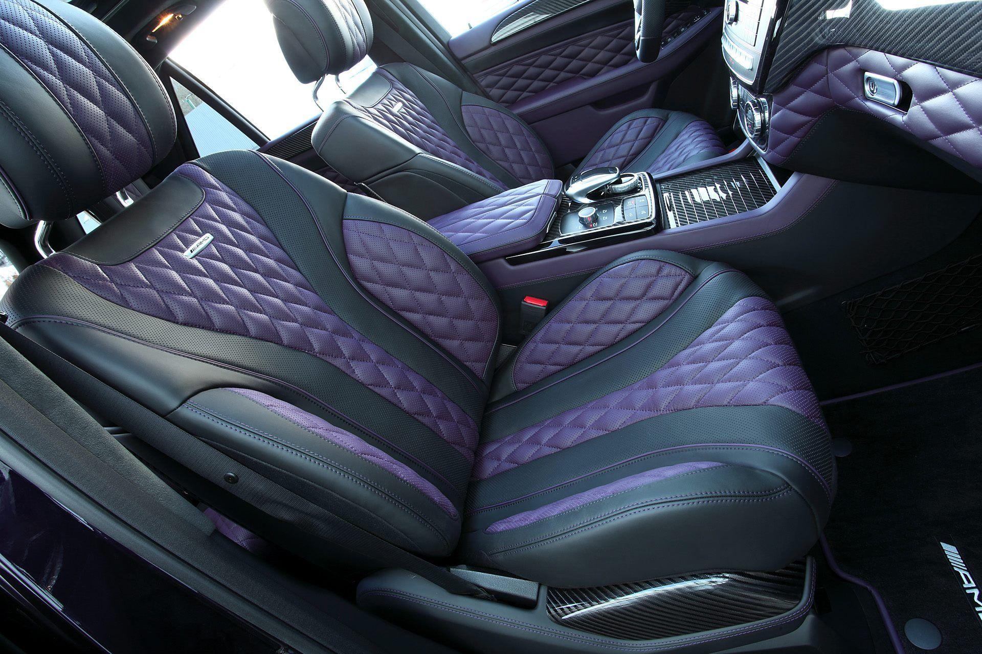 carbon mercedes amg gle 63 by topcar has purple leather interior autoevolution. Black Bedroom Furniture Sets. Home Design Ideas