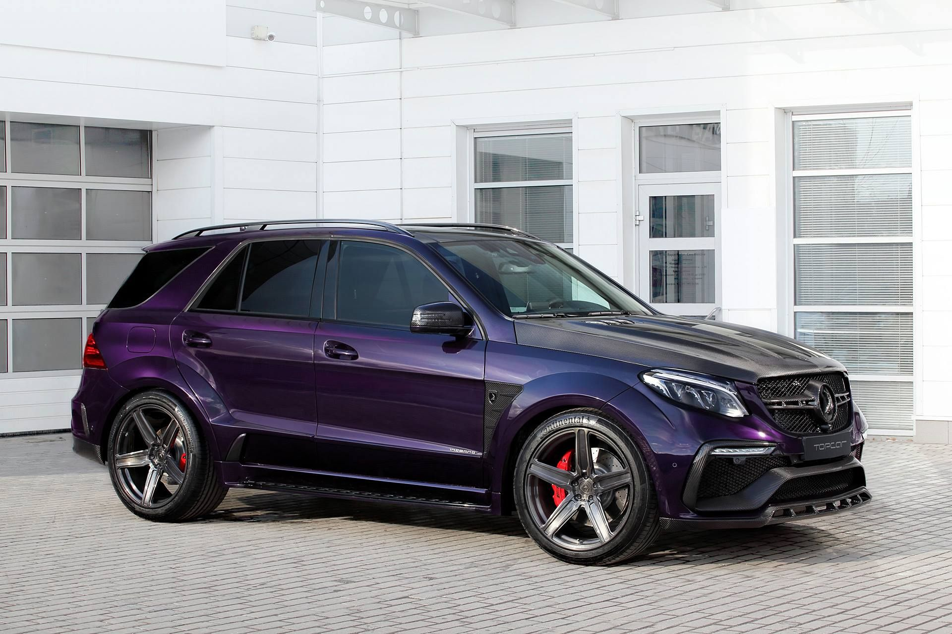 Carbon Mercedes Amg Gle 63 By Topcar Has Purple Leather Interior