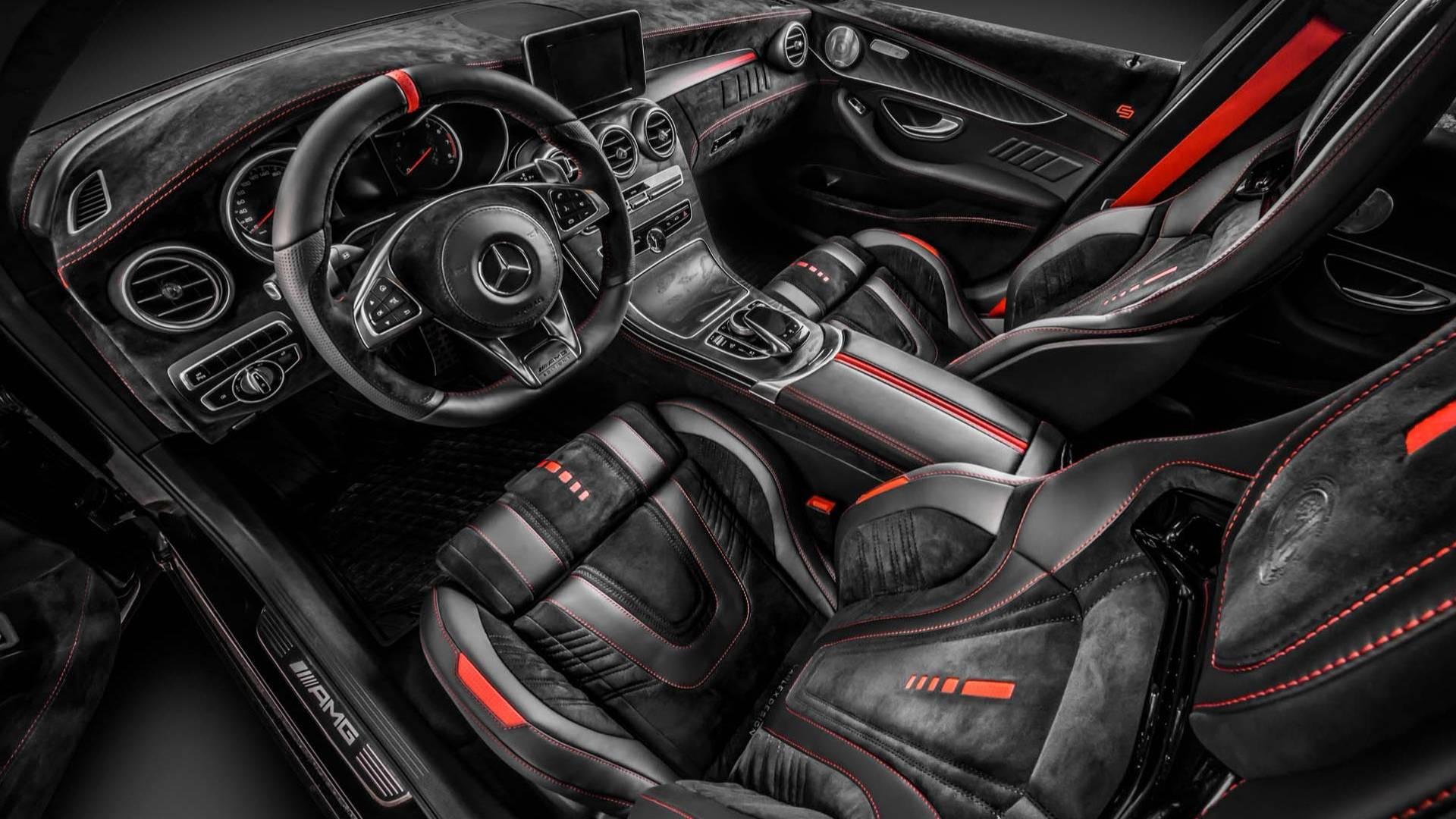 All Black Jeep Wrangler >> Carlex Design Kills a Mercedes-AMG C43 with Swathes of Alcantara - autoevolution