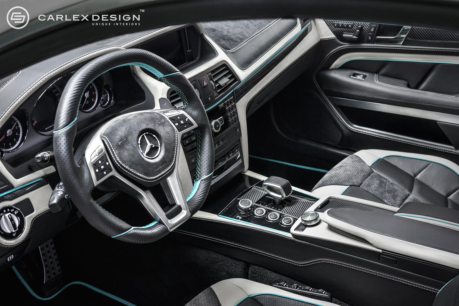 ... Carlex Design Mercedes-Benz E63 AMG interior visual makeover ...