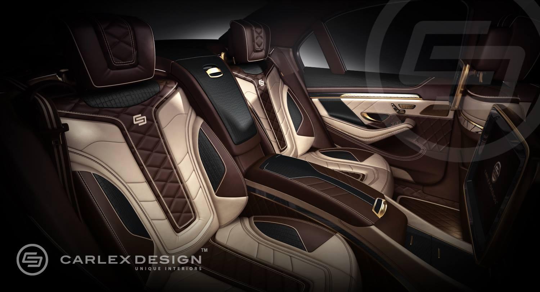 Carlex Mercedes S Class Interior 24k Gold And Crocodile