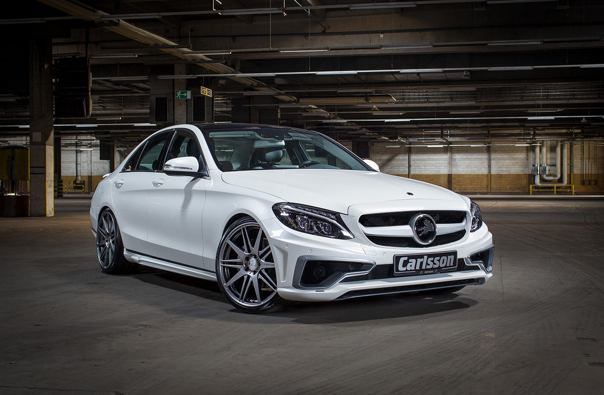 carlsson puts an evil face on the new c class w205. Black Bedroom Furniture Sets. Home Design Ideas
