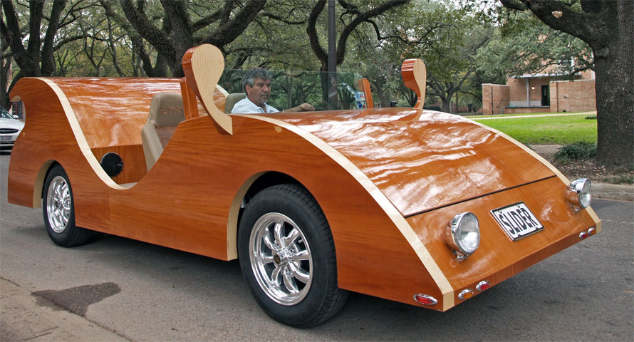 Carpenter Builds Stunning Futuristic Cars Out Of Wood