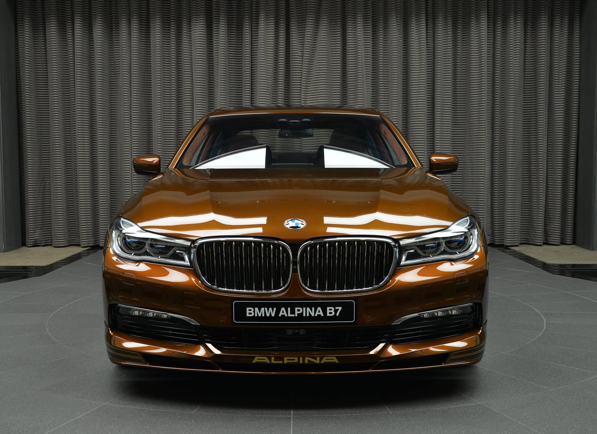 Chestnut Bronze Alpina B7 Bi Turbo Has Matching Brown Interior Autoevolution