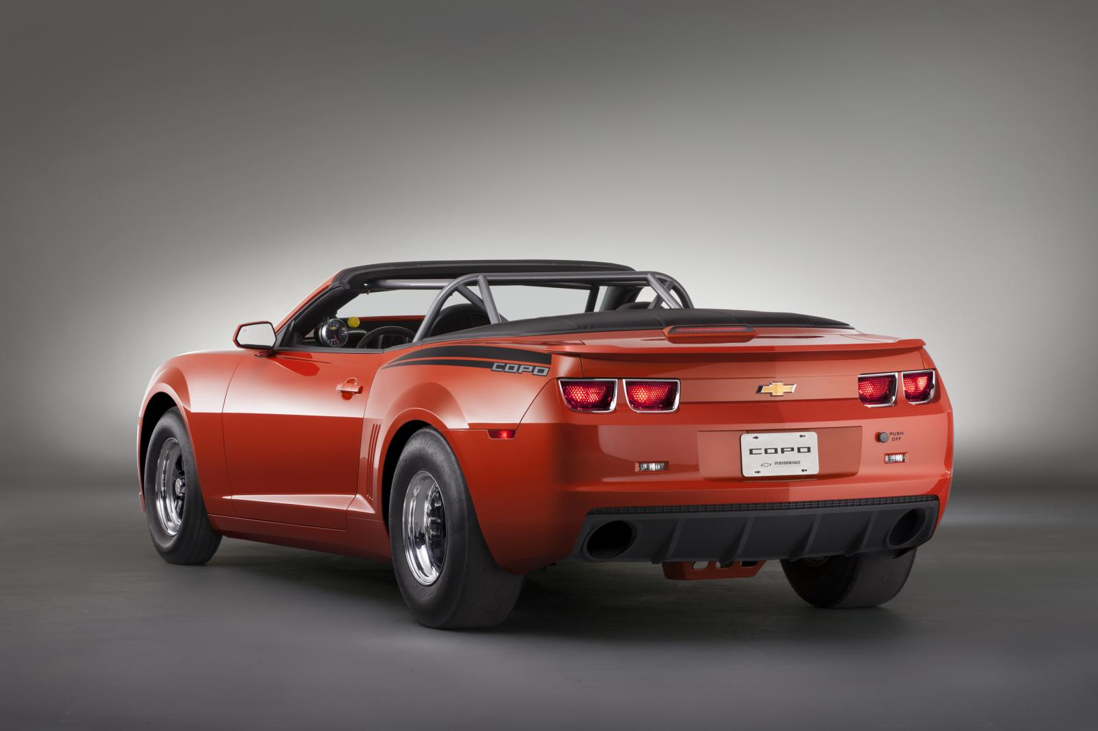 Chevrolet Copo Camaro Convertible In Inferno Orange Shown