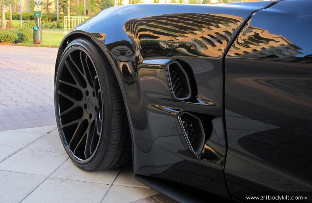 Chevrolet Corvette Gets Extreme Style Zr1 Widebody Kit