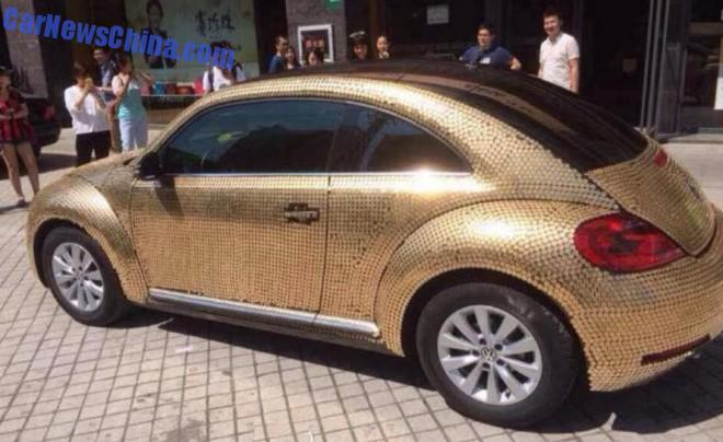 "Vw Dune Buggy >> China: Volkswagen Beetle Covered in Coins Is so ""Money"" - autoevolution"