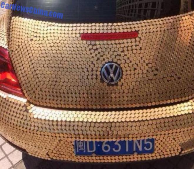 China Volkswagen Beetle Covered In Coins Is So Quot Money
