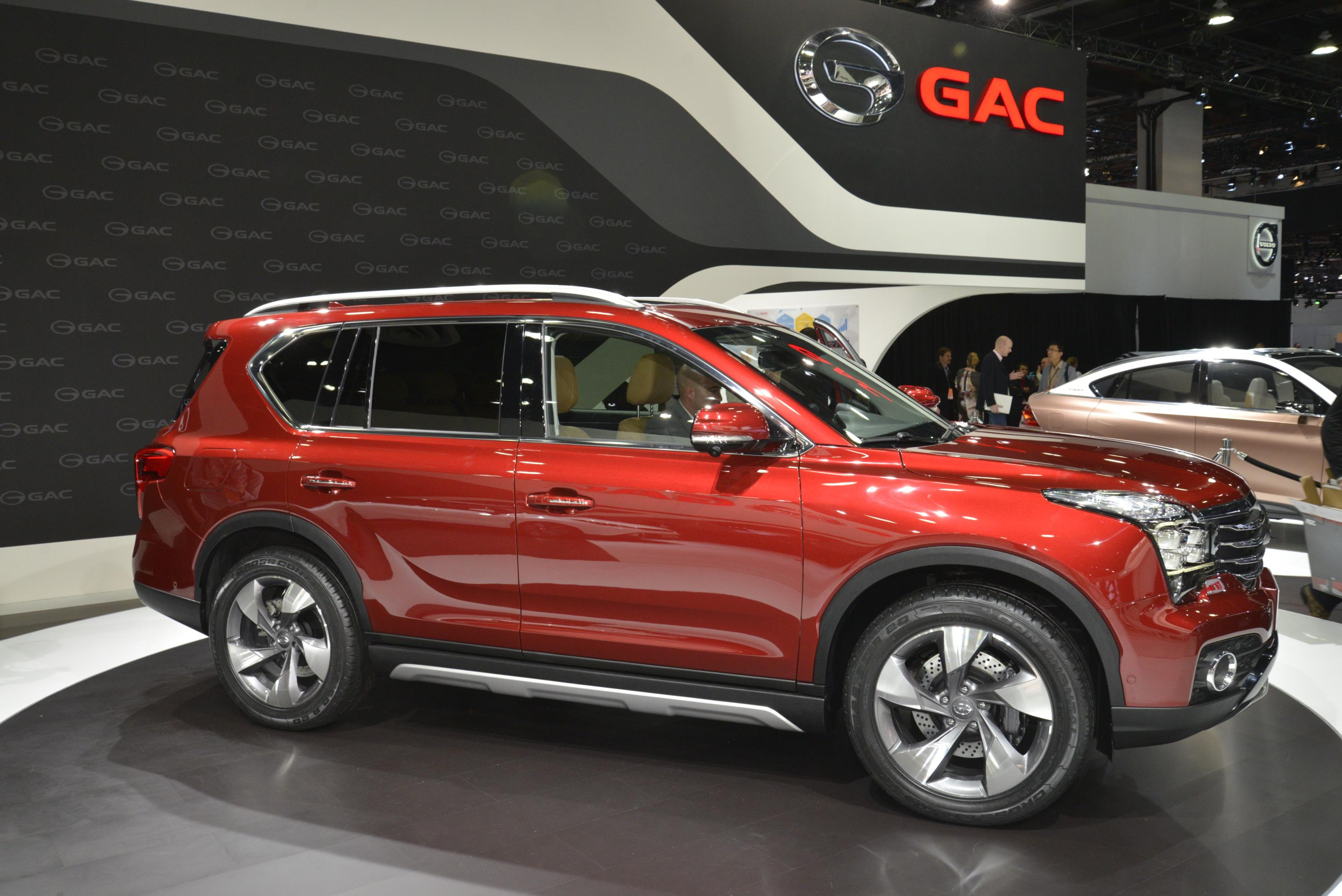 Chinese Automaker Gac Invades 2017 Detroit Auto Gs7 Looks