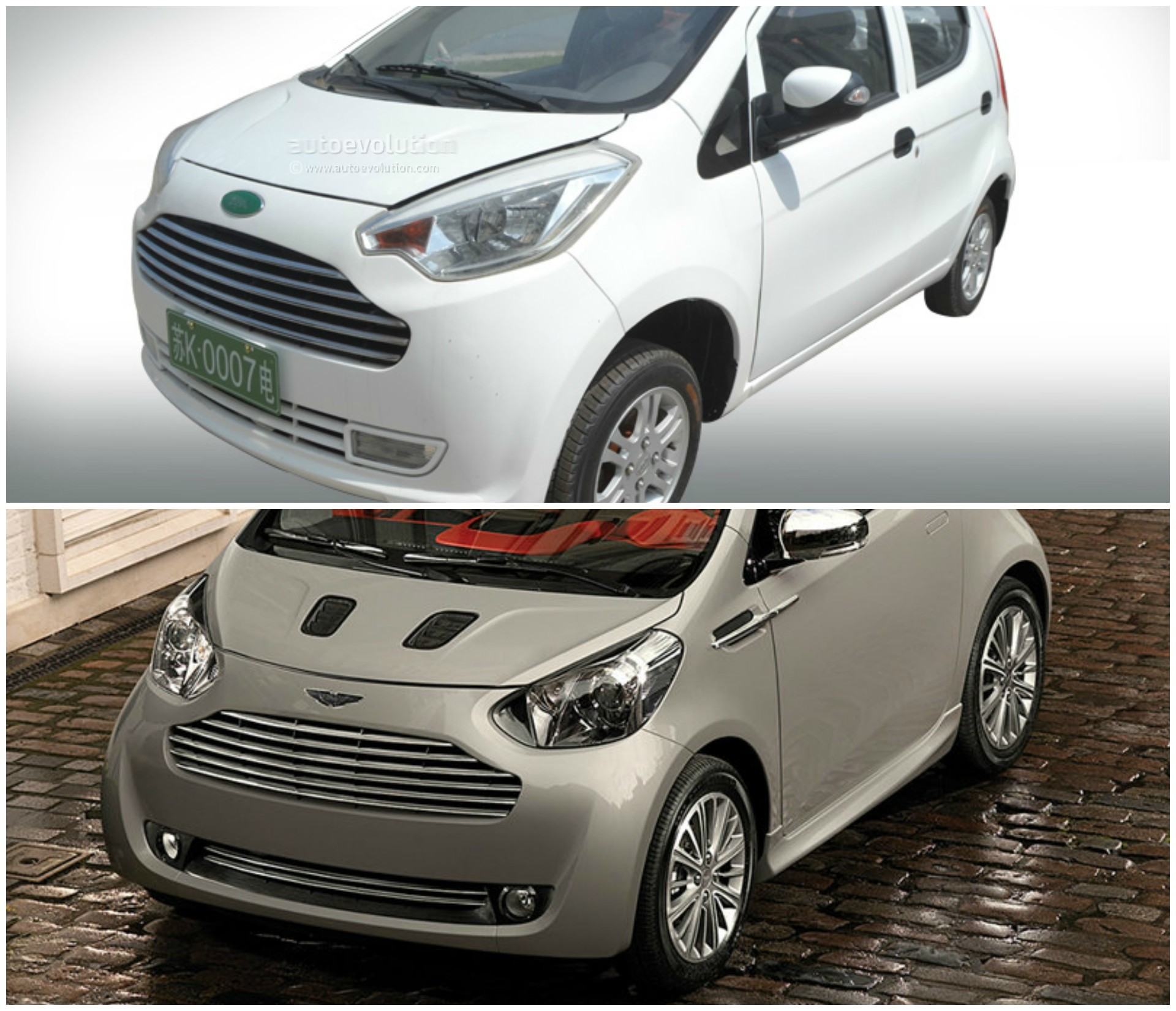 Chinese Electric Car Clones Aston Martin Cygnet And Ford