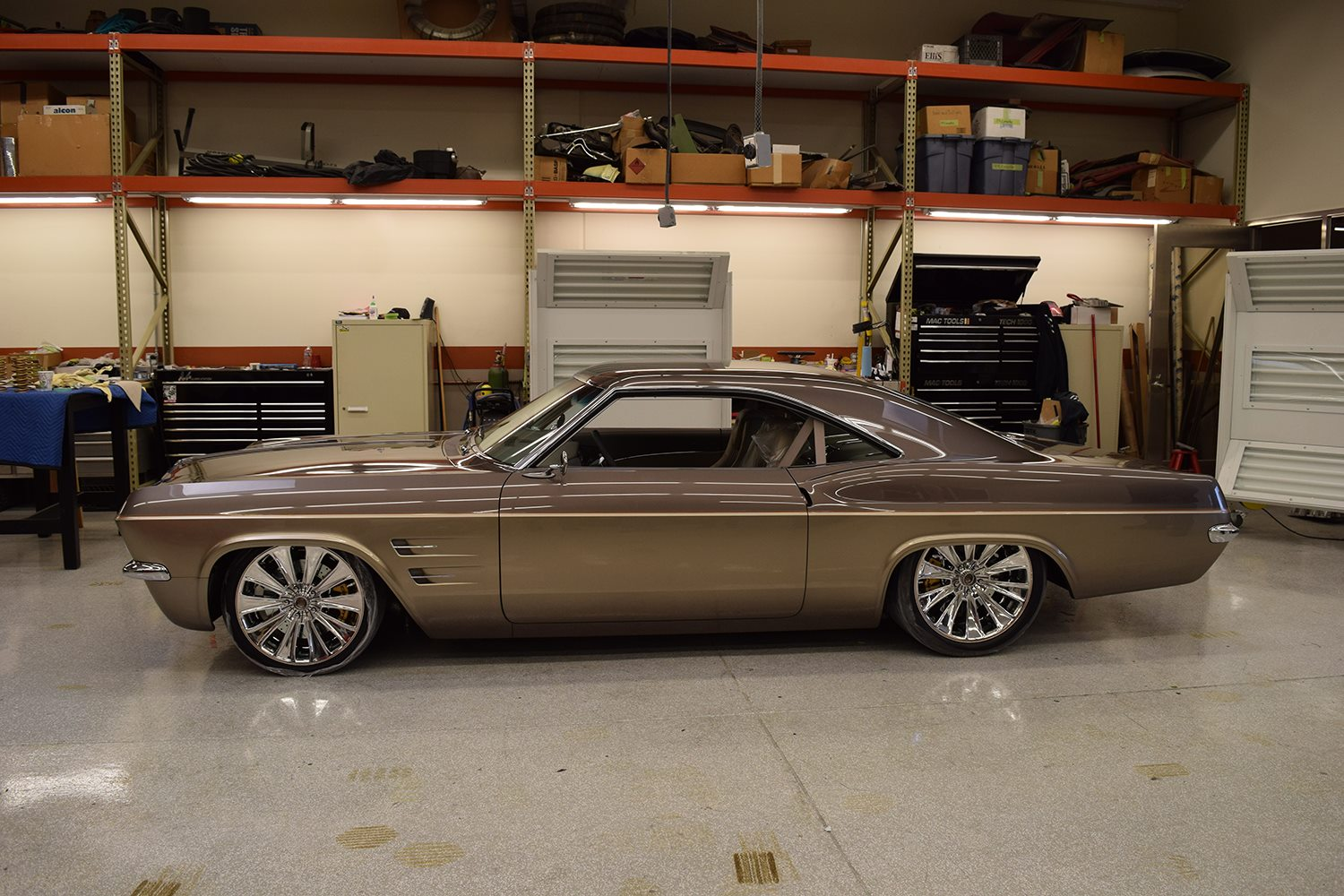 chip foose 39 s 1965 impala imposter is a corvette in. Black Bedroom Furniture Sets. Home Design Ideas