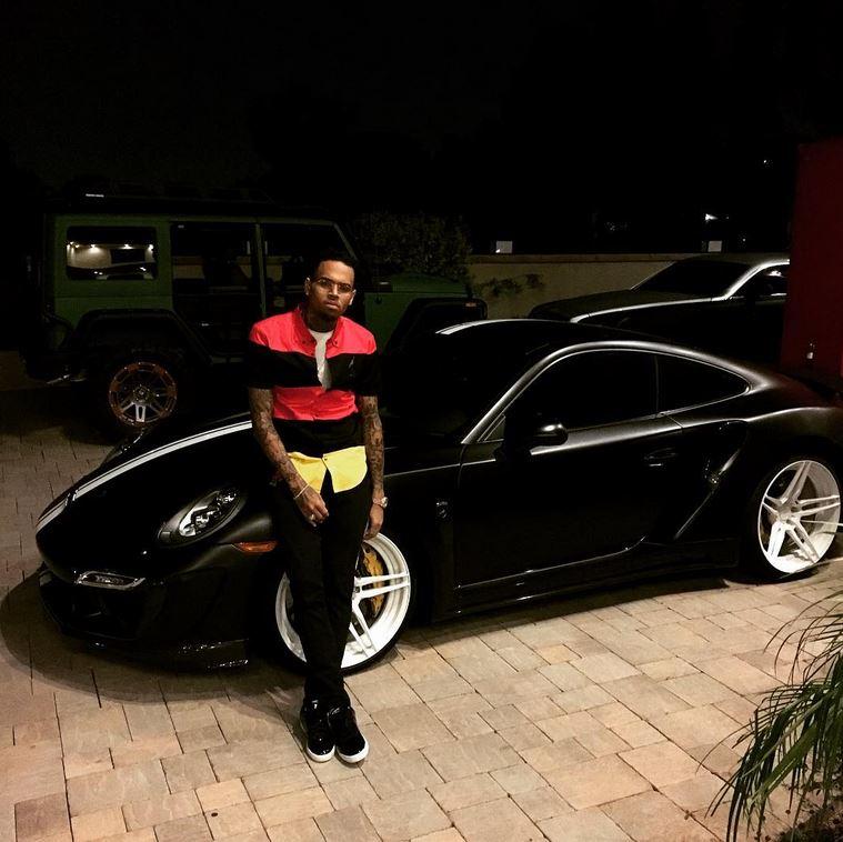 Chris Brown Dresses His Lamborghini Gallardo As Fighter