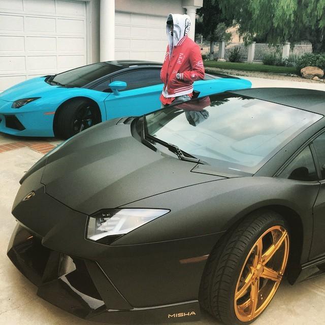 "Chris Brown Turned His Lamborghini Aventador Into ""The"
