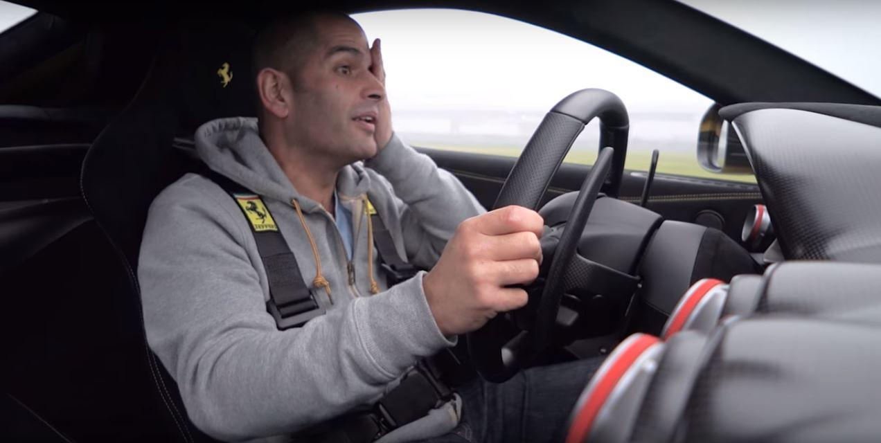 Chris Harris Drifts the Ferrari F12 TdF for Top Gear Gets Weak at