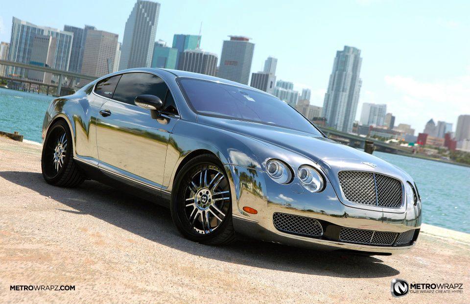 Chrome Bentley By Metro Wrapz Video Autoevolution