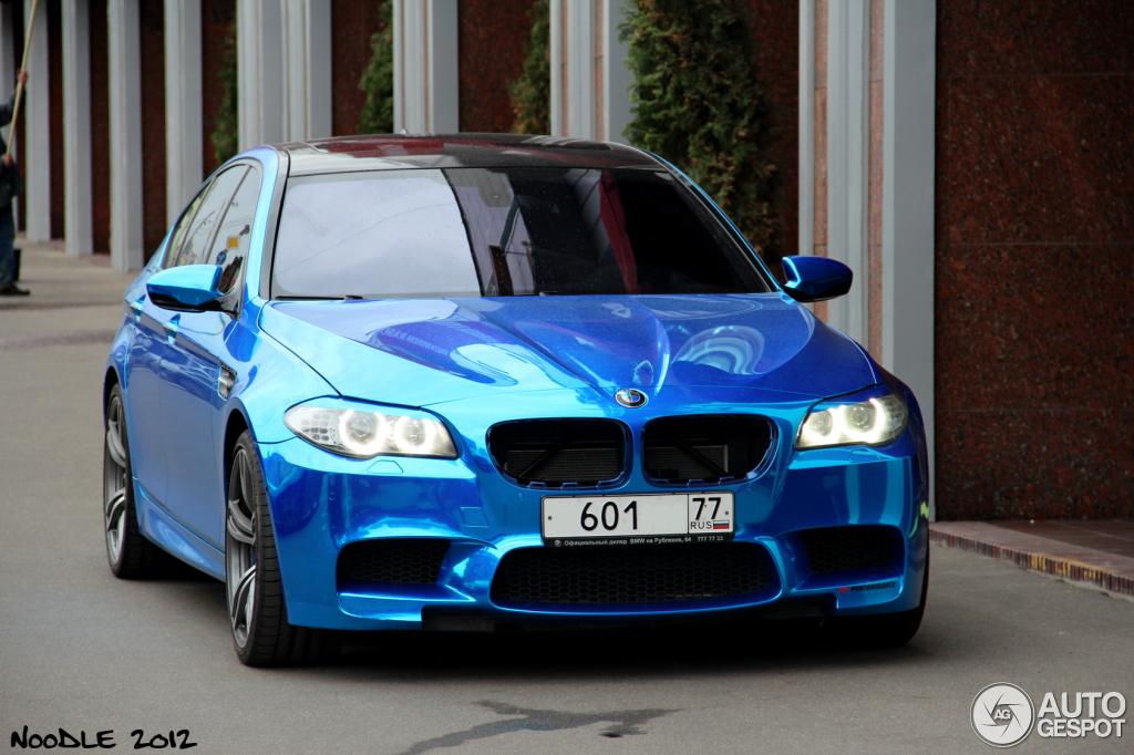 Chrome Blue Wrapped Bmw M5 F10 Autoevolution