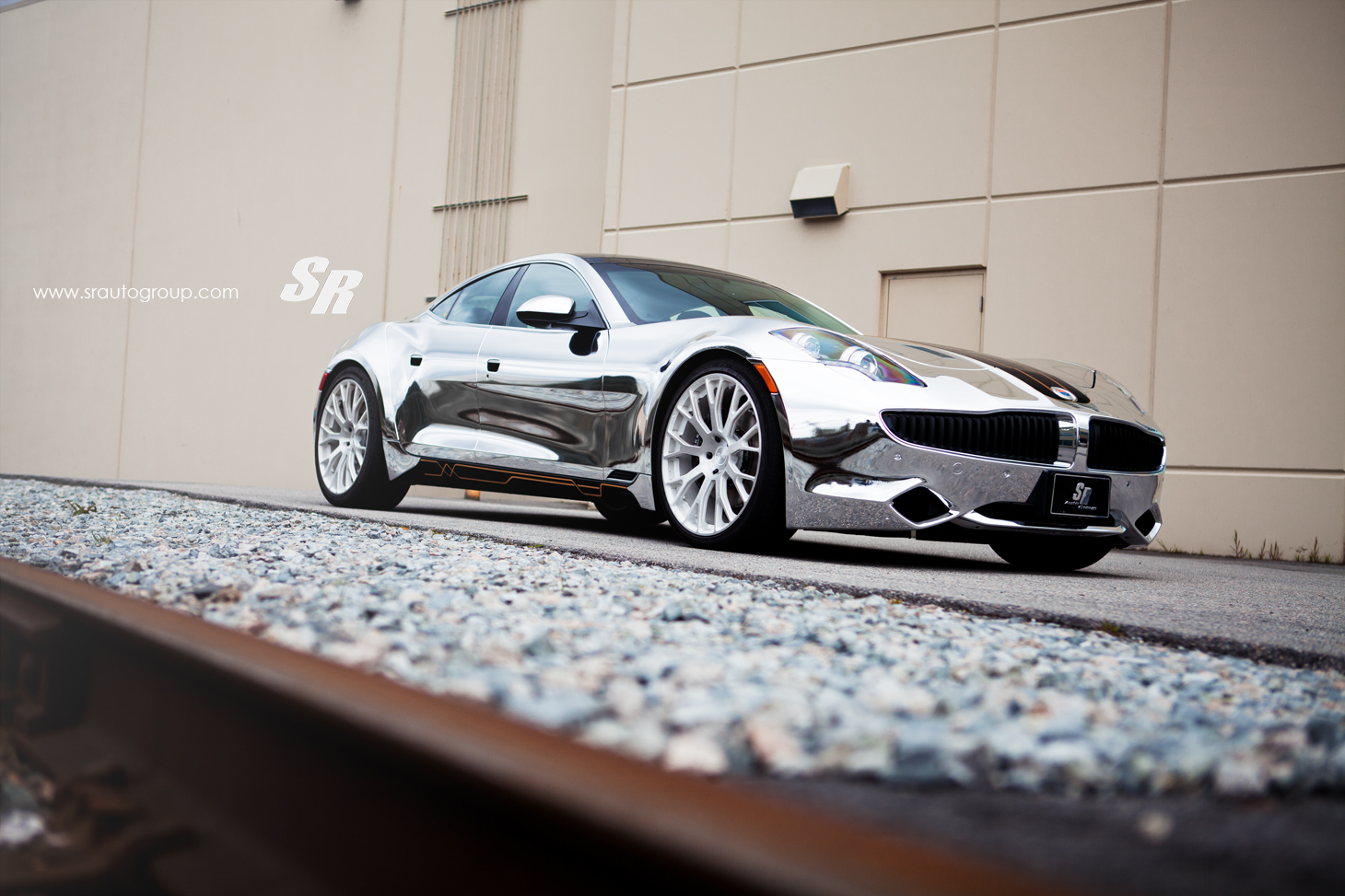 Chrome Fisker Karma On Pur Wheels Autoevolution