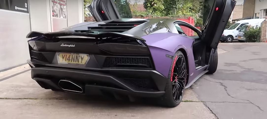 matte purple aventador s