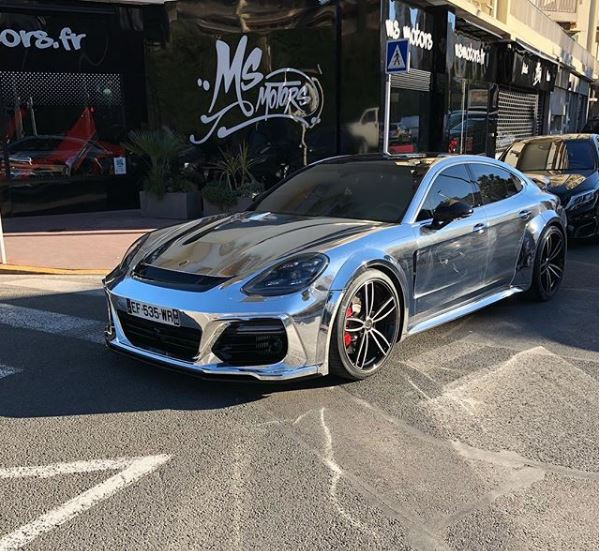 Chrome Widebody 2018 Porsche Panamera Turbo Has All The